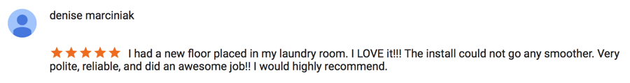Absolute Flooring Customer Review